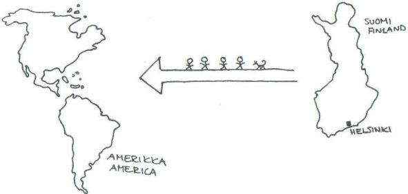 siirtolaiset amerikkaan
